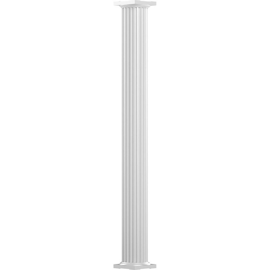 "Alum 6""x 8' Column, Sq Fluted White"