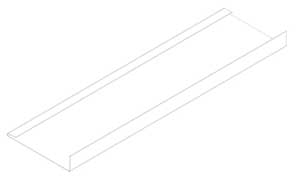 "3.5"" Trim Board 10' - Steel Glacier White Entex"