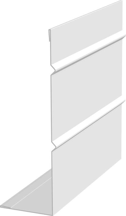 "4"" Fascia - Smooth/Rib - Aluminum Polar White Enamel"