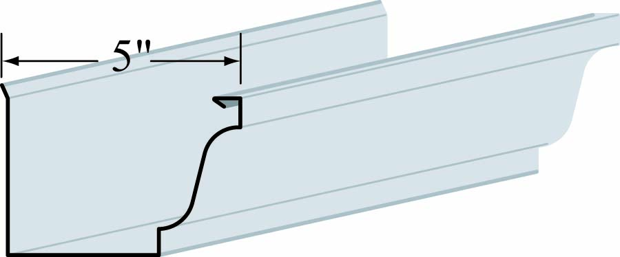 "5"" K-Style Gutter - .032 - Alum. Adobe Cream Entex"