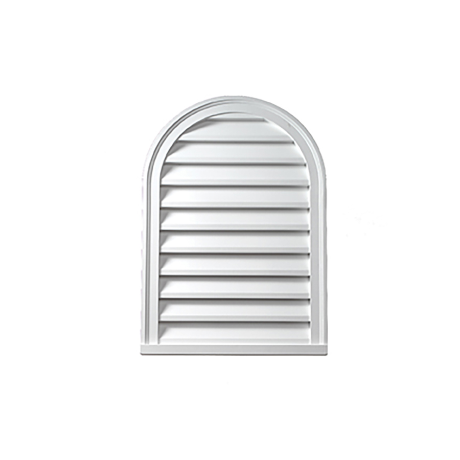 CLV 12 x 24 Cathedral Louver White